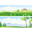 Summer landscape banners vector image vector image