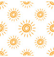 sunny repeating texture in yellow colors vector image vector image