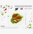 syrian cuisine middle east national dish vector image vector image