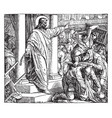 the money-changers driven from the temple vintage vector image vector image