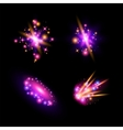 Transparent sparkling light effects and flares vector image vector image