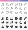 Trendy line icons vector image vector image