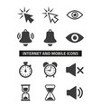 web and mobile icons set on white background vector image