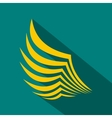 Wing icon in flat style vector image vector image