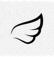 wings icon design vector image vector image