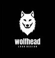 wolf dog fox coyote jackal head logo design vector image
