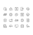 Line Hosting Icons vector image