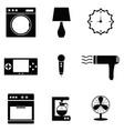 home appliances icons set vector image