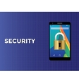 phone smartphone security concept with padlock vector image