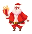 African american flat santa holds christmas gift vector image vector image
