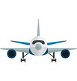 airplane front view isolated on white