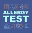 allergy test word concepts banner allergic