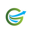 arrow letter g round business logo vector image vector image