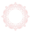 Baby pink mandala circle rosette card template vector image vector image