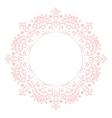 bapink mandala circle rosette card template vector image
