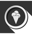 black icon with ice cream and stylized shadow vector image vector image