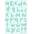 Blue bubble shaped lower case alphabet vector image