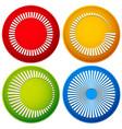 bright circular shape icons vector image vector image