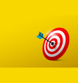 business success symbol with target on yellow vector image