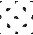 cap pattern seamless black vector image vector image