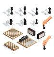 chess isometric set vector image