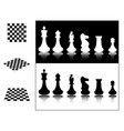 chess pieces and chessboards vector image