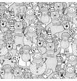 christmas black and white seamless pattern vector image vector image