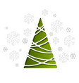 Christmas tree holiday background
