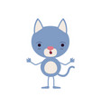 colorful caricature of cute kitten astonished vector image vector image