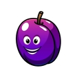 Colorful healthy fresh purple plum fruit vector image vector image