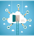 concept of cloud services vector image vector image
