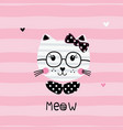 cute with funny cat vector image vector image