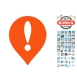 Danger Map Pointer Icon with 2017 Year Bonus vector image vector image