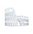 degraded line medieval coliseum rome architecture vector image vector image