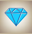 diamond sign sky blue icon vector image vector image