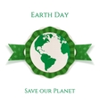 Earth Day realistic circle paper Banner Template vector image