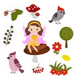 fairy with magic design elements fairy with magic vector image