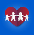 family love and relation in simple paper fold vector image