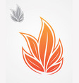 flame leaf vector image
