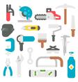 Flat design labor tools set vector image vector image