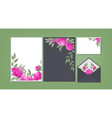 floral background template collection vector image vector image