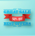 great sale background vector image