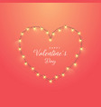 greeting card with heart on red background vector image vector image