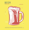 hand drawn beer poster stock vector image