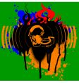 headphones graffiti vector image