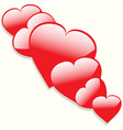 Hearts with shadow background vector image vector image