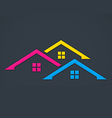 home realty colorful logo vector image vector image
