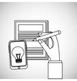 Idea design business concept Colorful vector image vector image