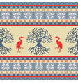 knitted celtic tree of life and crane vector image vector image