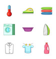 laundry icons set cartoon style vector image vector image